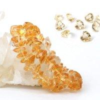 ブレス シトリン ハートカット 12mm 高品質の輝き 透明度抜群 天然石 品番: 13896