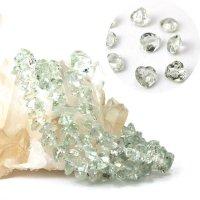 ブレス グリーンアメジスト ハートカット 8mm 高品質の輝き 透明度抜群 天然石 品番: 13891