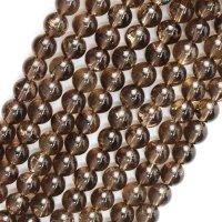連 スモーキーアイリスクォーツ 丸 8mm 虹入り水晶 輝くレインボー 品番: 13918