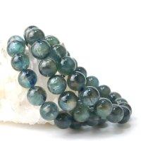 ブレス 高品質カイヤナイト バイカラー TOPランク 丸 約11mm タンザニア産 直感力 ヒーリング 天然石 品番: 13960