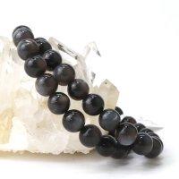 ブレス ブラックサンムーンストーン 丸 約9mm タンザニア産 癒し 浄化 健康 天然石 品番:14044