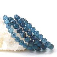 ブレス ディープアクアマリン 丸 約8mmから8.5mm ブラジル産 3月誕生石 幸せ 喜び 天然石 品番:14048