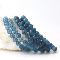 ブレス ディープアクアマリン 丸 約7mmから7.5mm ブラジル産 3月誕生石 幸せ 喜び 天然石 品番:14047