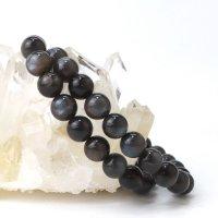 ブレス ブラックサンムーンストーン 丸 約8.5mm タンザニア産 癒し 浄化 健康 天然石 品番:14043