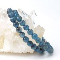 ブレス ディープアクアマリン 丸 約6mm ブラジル産 3月誕生石 幸せ 喜び 天然石 品番:14046