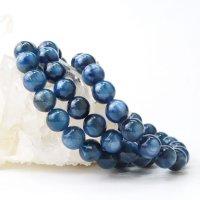 ブレス カイヤナイト 丸 約10mm ブラジル産 直感力 ヒーリング 天然石 品番: 14062