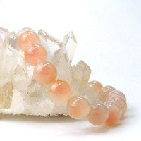ブレス オレンジタピオカアゲート 丸 約12.5mm モンゴル産 オレンジゴビアゲート 天然石 品番:14066