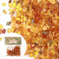 さざれ 天然アンバー 10g リトアニア産 魔除け 前向き 守護石 希少性 エネルギー パワーストーン レア 品番:14073