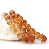 ブレス プラジオクレースムーンストーン 丸 約10.5mm チベット産 ブラウン 美しい 天然石 品番: 14091
