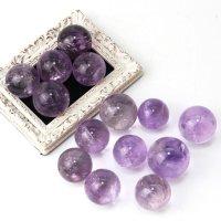 丸玉 アメジスト 1個 ブラジル産 紫 パープル 癒し 浄化 天然石 置物 品番:14122