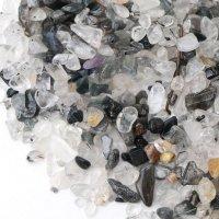 さざれ ブラックルチル 約1kg 最強 勝負運 浄化 インテリア 天然石 品番: 14153