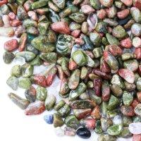 さざれ ユナカイト 極小 約1kg 緑簾石 癒し 浄化 インテリア 天然石 品番: 14152