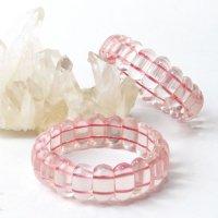 バングル ローズクォーツ 小 恋愛 美しさ ピンク 天然石 品番: 14186