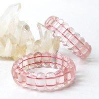 バングル ローズクォーツ 大 恋愛 美しさ ピンク 天然石 品番: 14187