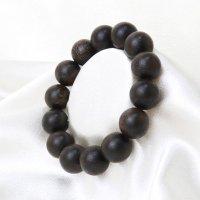 ブレス 沈香 約15.5mm 浄化 魔除け ヒーリング 瞑想 鎮静効果 天然木 品番: 14191