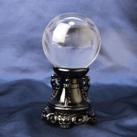 置物 無垢水晶 丸玉 約76mm 台座付き ブラジル産 浄化 エネルギー 天然石 品番: 14196