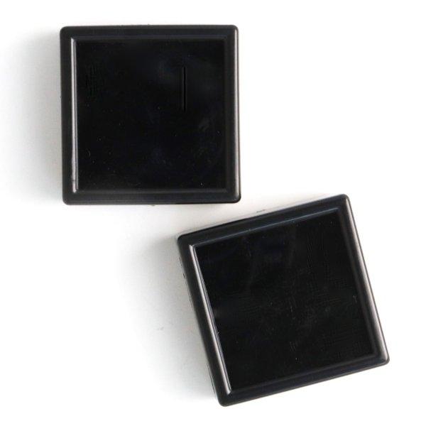 画像1: ルースケース ブラックカラー BK 約4×4cm 10個セット アクリル製 ディスプレイ インテリア 品番: 14225