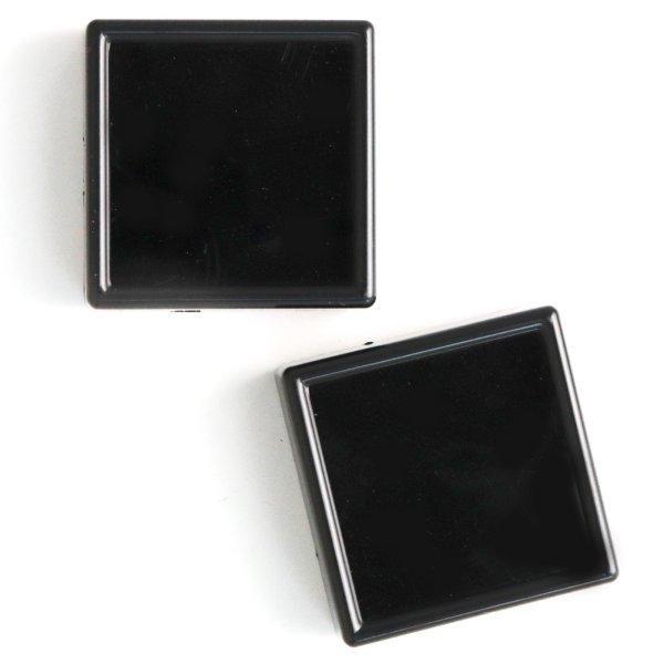 画像1: ルースケース ブラックカラー BK 約5×5cm 10個セット アクリル製 ディスプレイ インテリア 品番: 14226