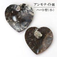 アンモナイト 小皿 ハート型 インテリア 化石 ディスプレイ 浄化 約11x11cm 1枚 品番: 14244