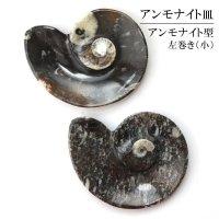 アンモナイト 小皿 アンモナイト型 左巻き インテリア 化石 ディスプレイ 浄化 約11.5x9cm 1枚 品番: 14241