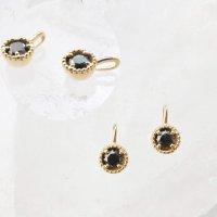 ペンダントトップ バースデー 4月 ブラックダイヤモンド 18金ゴールド 3mm アフリカ産 天然石 ジュエリー 品番:14268