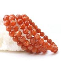 ブレス サンストーン 丸 約8.5mm インド産 癒し 浄化 サポート 天然石 品番:14315