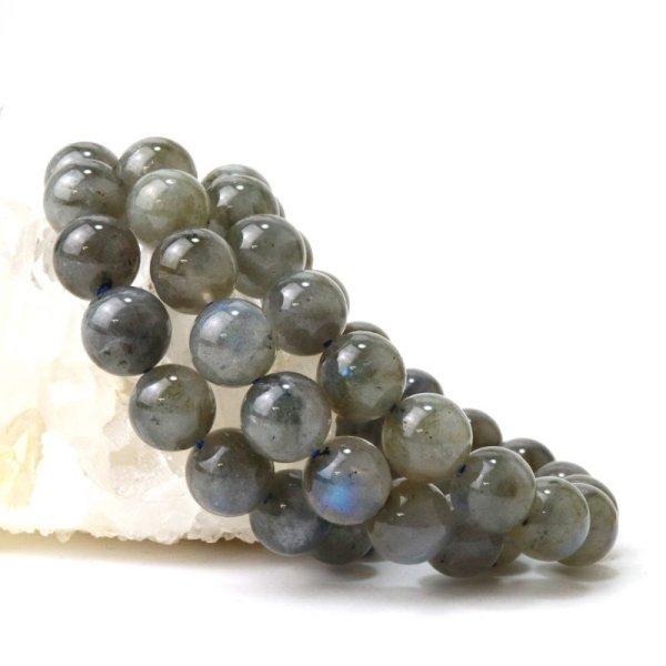 画像1: ブレス ラブラドライト 丸 約11.5mm マダガスカル産 自由 夢 ヒーリング 天然石 品番:14324