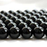 連 モリオン(黒水晶)AAA チベット産 18mm  品番: 6065