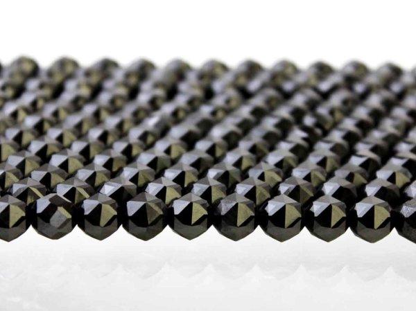 画像2: 連 北投石(黒)スターカット 10mm  品番: 10762