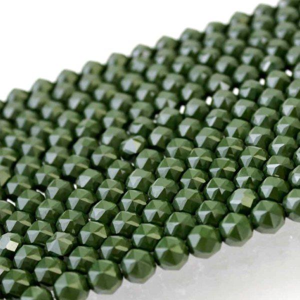 画像1: 連 北投石(緑)スターカット 12mm  品番: 10768