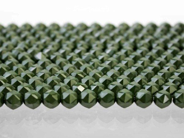 画像2: 連 北投石(緑)スターカット 12mm  品番: 10768