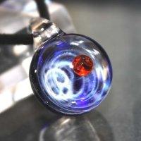 宇宙を閉じ込めたガラスのペンダントトップ C  品番: 7605