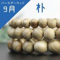 【バースデーウッド】9月の誕生木 朴(ほう) 12mm  品番: 3743
