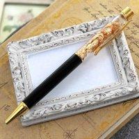 金箔入りボールペン ブラックカラー  品番: 9773
