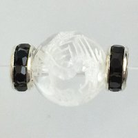 ロンデル(SVブラック/平型)  6mm 100個    品番: 8081