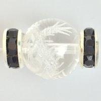 ロンデル(SVブラック/平型) 10mm 100個    品番: 8046