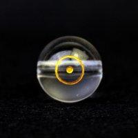 【オリジナル商品】カービング 占星術 太陽 水晶(金彫り) 12mm  品番: 10748