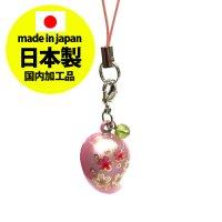 鈴勾玉の桜ストラップ パールピンク【日本製】  品番: 8382