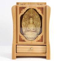 置物 木彫り 八尊仏 大日如来  品番: 10031