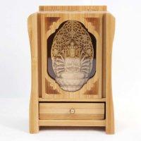 置物 木彫り 八尊仏 千手観音  品番: 10032