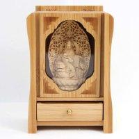 置物 木彫り 八尊仏 文殊菩薩  品番: 10034