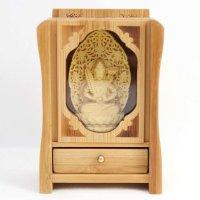 置物 木彫り 八尊仏 虚空菩薩  品番: 10035