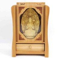 置物 木彫り 八尊仏 勢至菩薩  品番: 10036