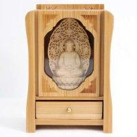 置物 木彫り 八尊仏 阿弥陀如来  品番: 10037
