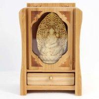 置物 木彫り 八尊仏 普賢菩薩  品番: 10038