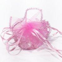 さざれ巾着 ピンク(淡  品番: 7402