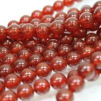 連 カーネリアン(赤)  丸 10mm    品番: 3970