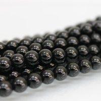 連 モリオン(黒水晶) AAA 丸 6mm  品番: 9169