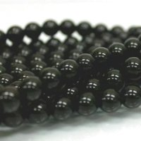 連 モリオン(黒水晶)AAA チベット産  丸  8mm    品番: 6060