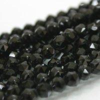 連 チベット産モリオン(黒水晶) スターカット 6mm   品番: 3962